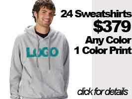 24 Custom Hooded Sweatshirts