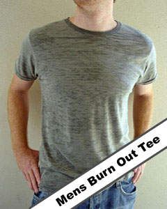 mens burnout tee
