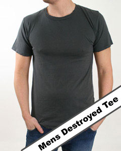 mens destroyed tee