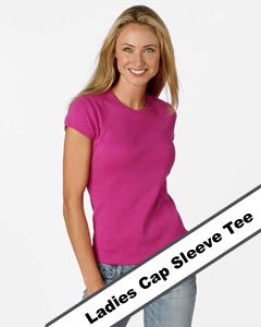 ladies cap sleeve tee