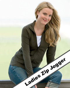 ladies zip up jogger jacket